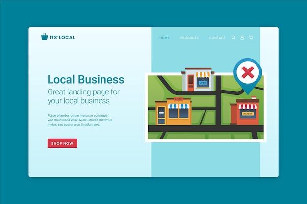 Page De Destination De L'entreprise Locale Vecteur gratuit