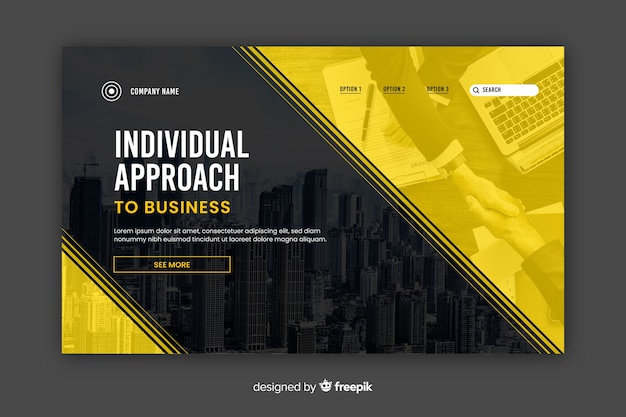 Page de destination des entreprises à approche individuelle Vecteur gratuit
