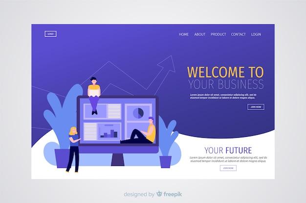 Page de destination des entreprises modernes Vecteur gratuit