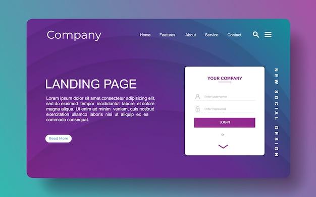 Page De Destination Avec Fond Abstrait Vecteur Premium