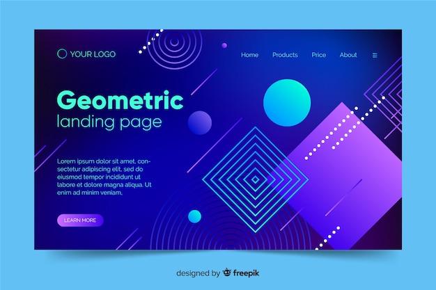 Page de destination des formes géométriques dégradées Vecteur gratuit