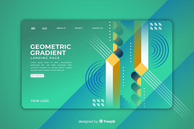 Page de destination des formes géométriques Vecteur gratuit