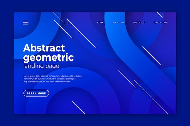 Page de destination géométrique minimale Vecteur gratuit