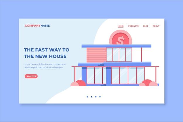 Page De Destination Hypothécaire Design Plat Vecteur gratuit