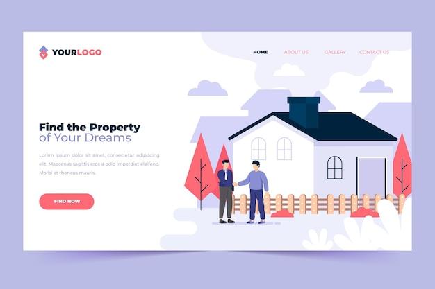 Page De Destination Immobilière Vecteur gratuit