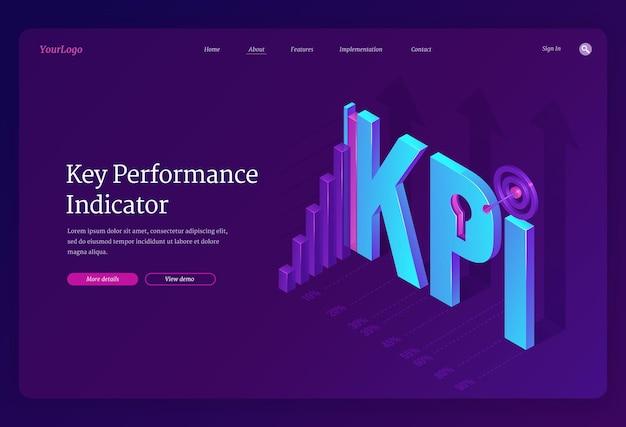 Page De Destination Des Indicateurs De Performance Clés Vecteur gratuit