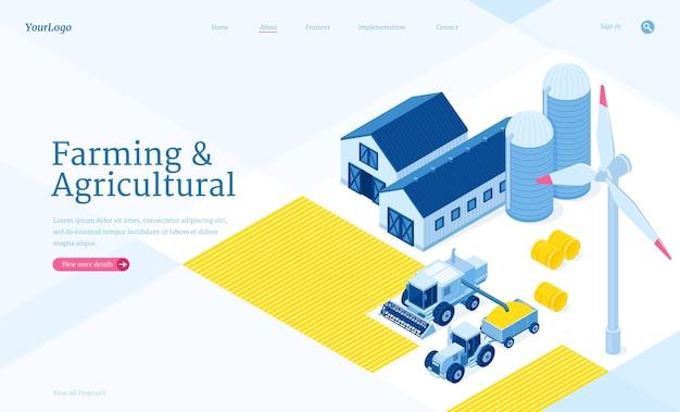 Page De Destination Isométrique Agricole Et Agricole Vecteur gratuit