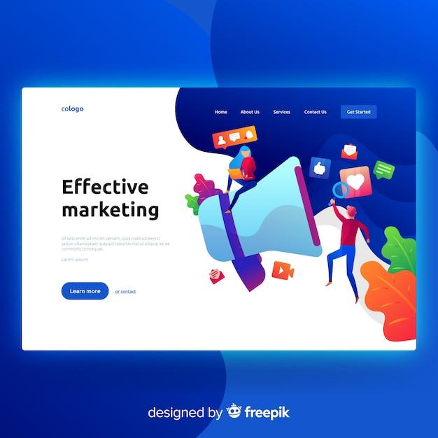 Page de destination marketing Vecteur gratuit