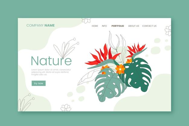Page de destination nature dessinée à la main Vecteur gratuit
