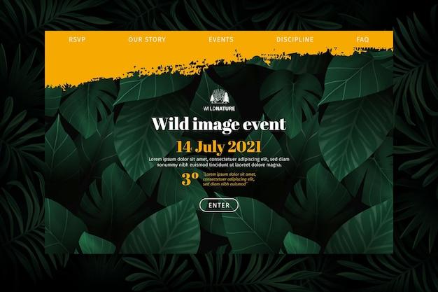 Page De Destination De La Nature Sauvage Vecteur gratuit
