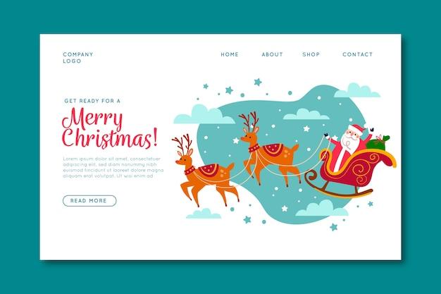 Page De Destination De Noël Dessinée à La Main Vecteur gratuit