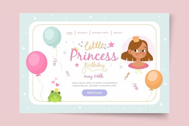 Page De Destination Pour L'anniversaire Des Enfants Vecteur gratuit