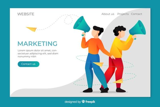 Page de destination pour le marketing Vecteur gratuit