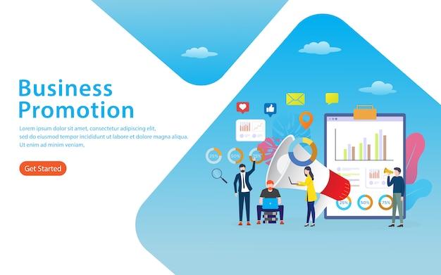 Page de destination de promotion commerciale Vecteur Premium