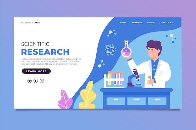 Page De Destination De La Recherche Scientifique Vecteur gratuit