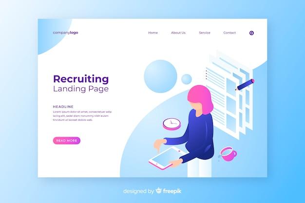 Page de destination de recrutement Vecteur gratuit
