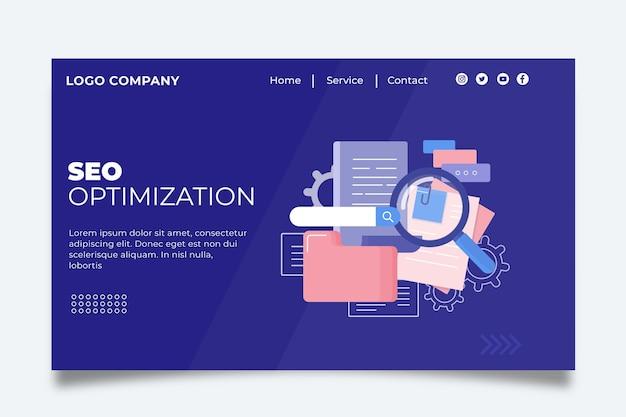 Page De Destination Seo Vecteur Premium