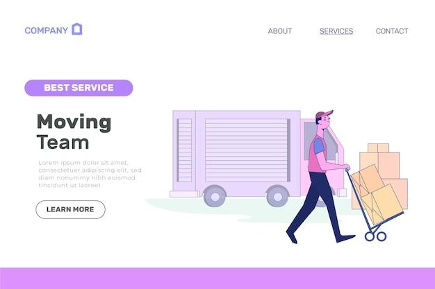 Page De Destination Des Services De Déménagement Vecteur gratuit