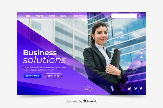 Page De Destination Des Solutions Métier Vecteur gratuit
