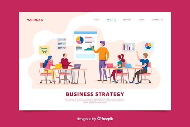 Page De Destination De La Stratégie Commerciale Vecteur gratuit
