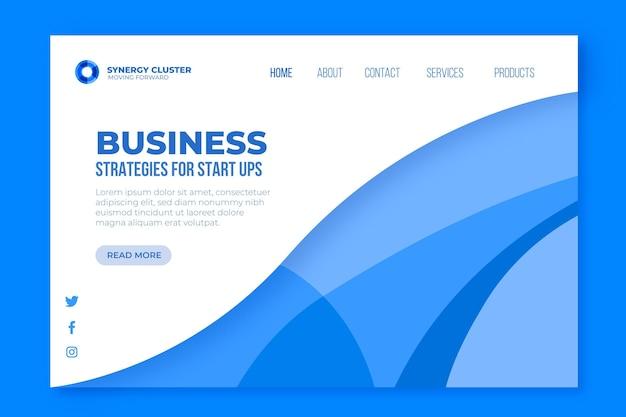 Page De Destination Des Stratégies Commerciales Vecteur gratuit