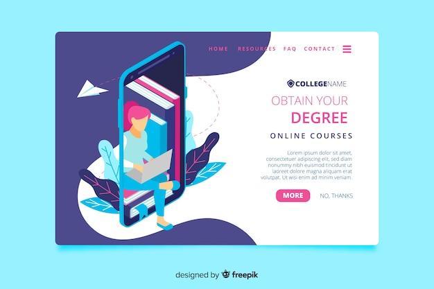 Page de destination de l'université Vecteur gratuit
