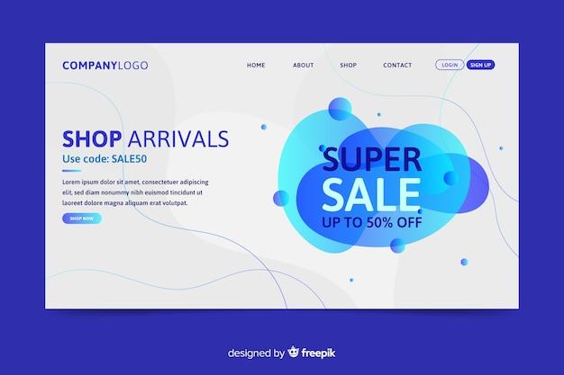 Page de destination des ventes abstraites Vecteur gratuit