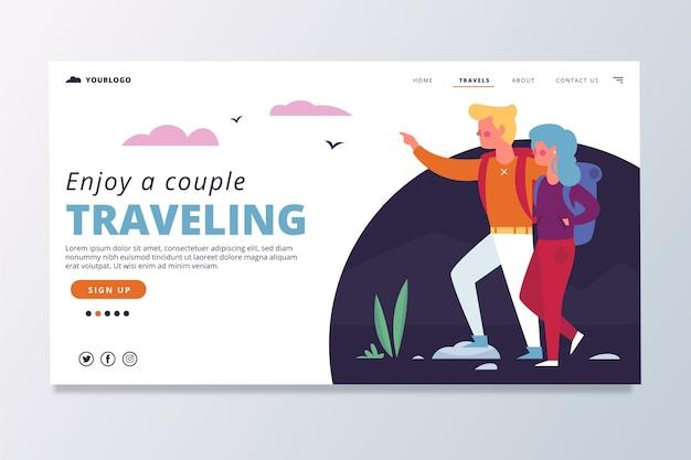 Page De Destination De Voyage Vecteur gratuit
