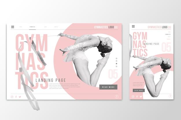 Page De Destination Webtemplate Pour La Gymnastique Vecteur gratuit