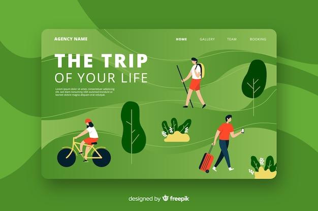Page de destination Vecteur gratuit