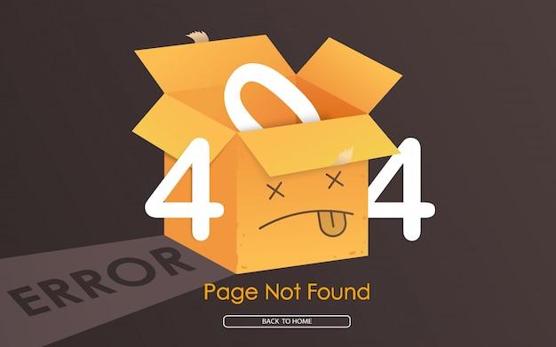 Page D'erreur 404 Box Introuvable Vecteur Premium