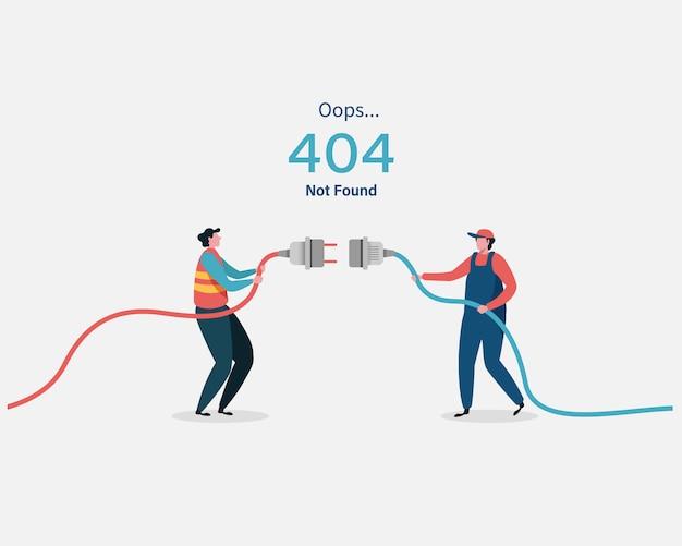 Page d'erreur 404 non trouvée. Vecteur Premium
