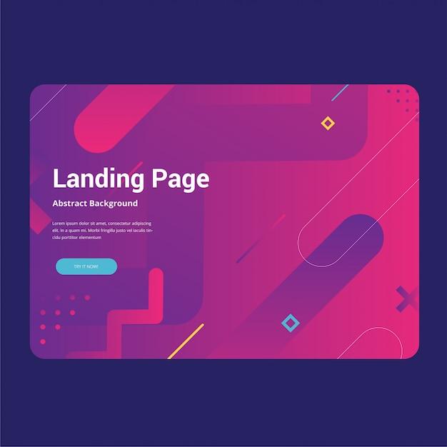 Page de fond abstrait Vecteur Premium