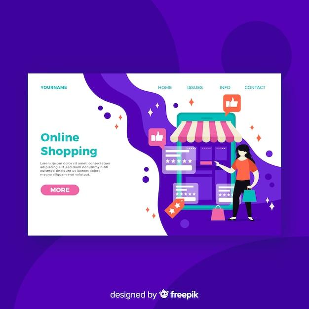 Page de magasinage en ligne Vecteur gratuit