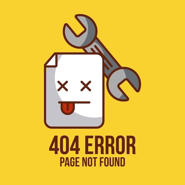 Page non trouvée Vecteur Premium