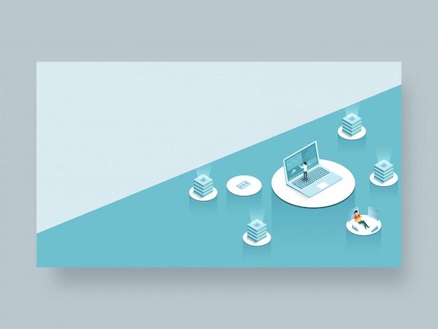 Page de renvoi ou modèle web adaptatif Vecteur Premium