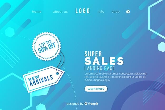 Page de vente abstraite Vecteur gratuit