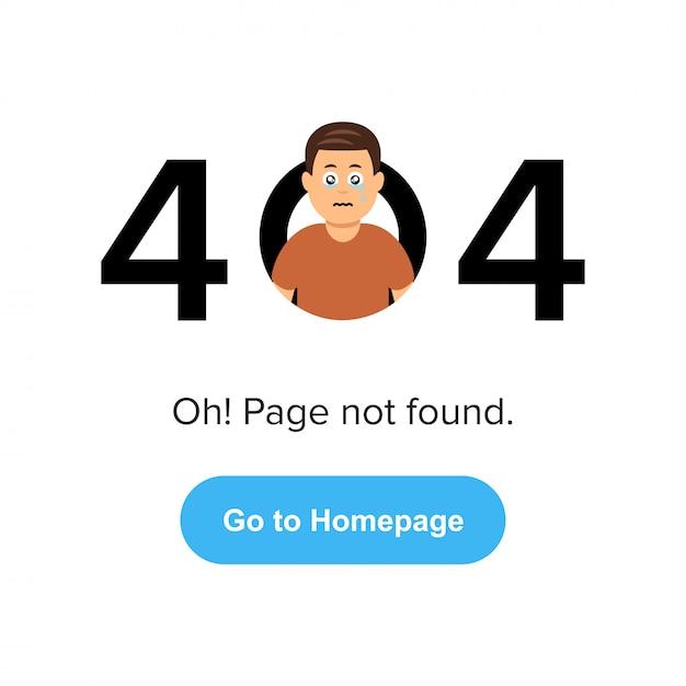 Page web 404 d'erreur. Vecteur Premium