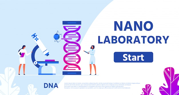 Page Web Du Nano Laboratory For Genetic Research Vecteur Premium