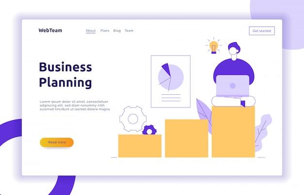 Page web de stratégie financière et commerciale de vecteur Vecteur Premium