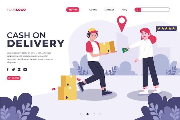 Paiement à La Livraison Concept - Page De Destination Vecteur gratuit