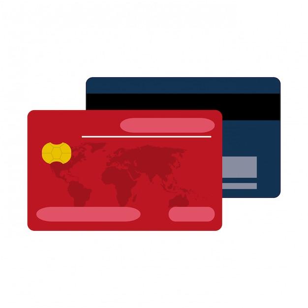 Paiement par carte de crédit Vecteur Premium