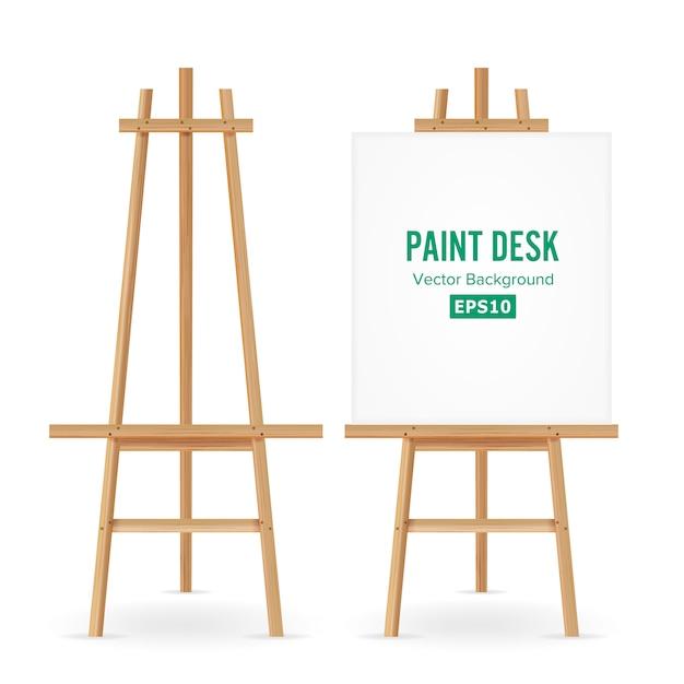 Paint desk vector Vecteur Premium