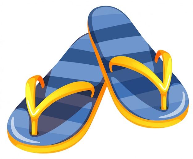 Une Paire De Sandales Bleues Vecteur gratuit