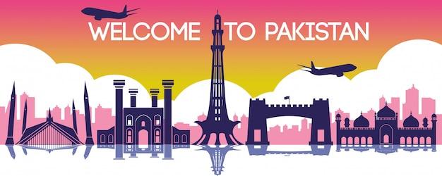 Pakistan emblème de hong kong Vecteur Premium