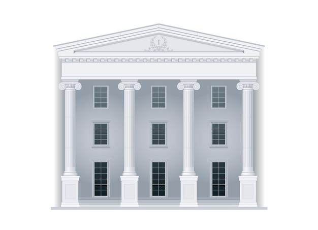Palais de justice de style classique Vecteur Premium