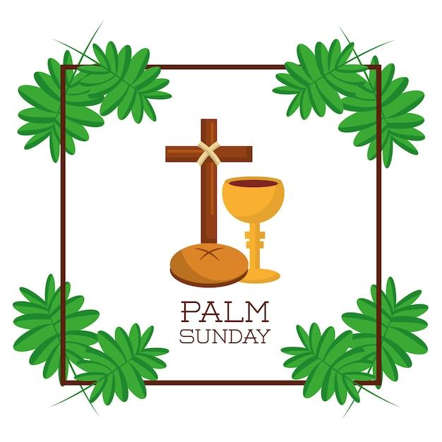 Palm Dimanche Carte D Invitation De Celebration Religieuse