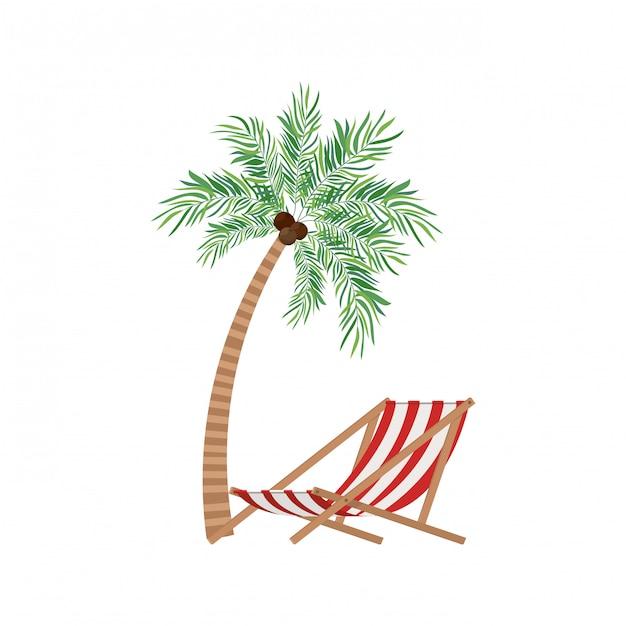 Palmier à La Noix De Coco En Blanc Vecteur gratuit