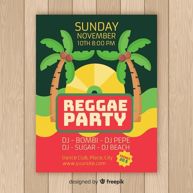 Palms reggae poster Vecteur gratuit