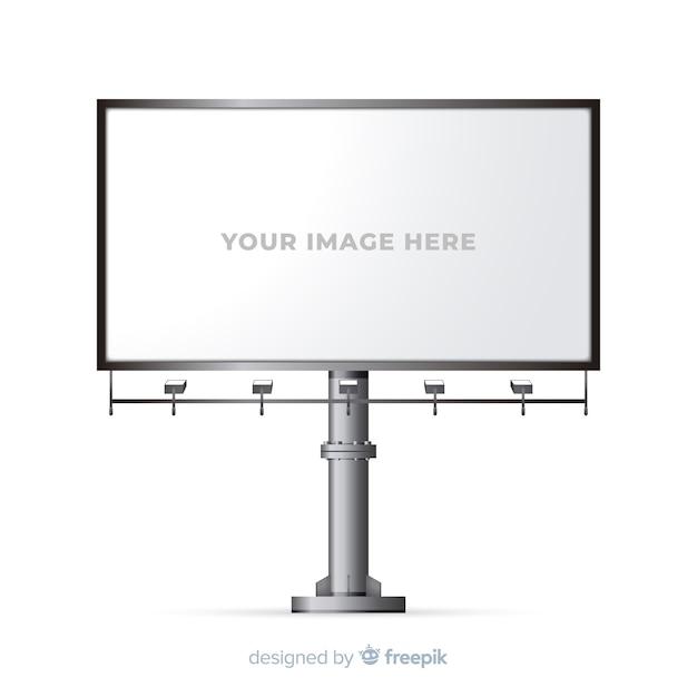 Panneau d'affichage réaliste Vecteur gratuit